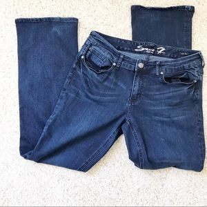 7 FOR ALL MANKIND WOMENS BOOT CUT JEANS SIZE 14